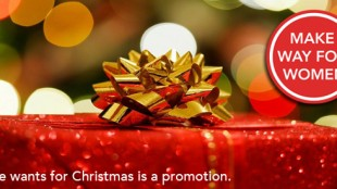 All She Wants for Christmas is a Promotion.